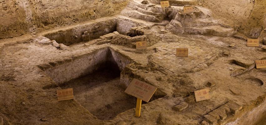 图表酒文化博物馆-古井魏井,明代窖池群,在这里都绘制呈现.html5和css3千年忠实图片